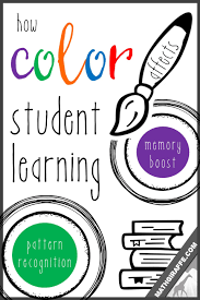 A board game to use for revision of the first lessons' learning. How Color Affects Student Learning