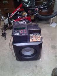 infinity entra sub. i have a infinity entra sub 150watts 10 inch. it comes on in plays. but when the bass gets ready to hit real hard cuts out