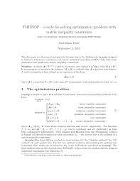 pdf fminsdp a code for solving optimization