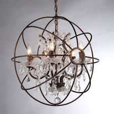 orb crystal chandelier rustic iron replica foucault lighting rcb regarding popular home crystal orb chandelier decor