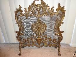 louis xiv french bronze fireplace screen 1800 s rare beautiful exquisite