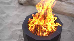 Blue Sky Portable Pellet Log Fire Pit Youtube