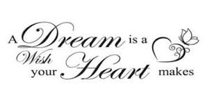 A Dream Is A Wish Your Heart Makes Quote Best of A Dream Is A Wish Your Heart Makes Wall Art Decals Living Room