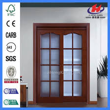 high quality customized wood sliding glass door jhk g23