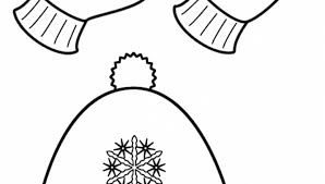 Small Picture Winter Hat And Mittens Coloring Page Clothing with Mitten