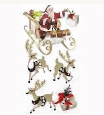 Jolees Christmas Santa Sleigh 3d Stickers List Gifts Ho Ho Reindeer