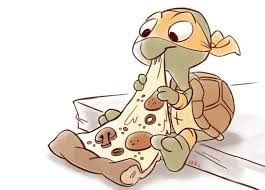 Small Picture This cute drawing of little Mikey and a slice of pizza showed up