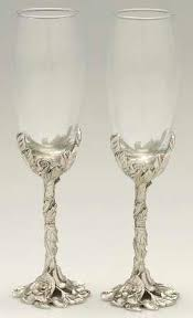 seagull pewter misc pewter hollowware set of 2 toasting goblet