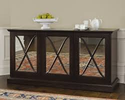 Luxury Mirrored Modern Buffet Table With Triple Door Added Dark - Buffet table dining room
