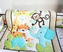 jungle nursery bedding new happy jungle animals friends baby crib bedding set bed kit applique embroidered