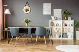 In this room, the walls are painted a shade of gray that is almost sage, and as a result of the charcoal and black furniture pop against it. 50 Gray Dining Room Ideas Photos Home Stratosphere