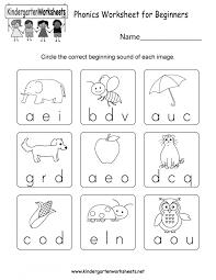 Beginningnd Worksheets For Kindergarten Printables Initial ...