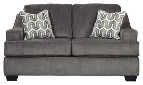 Amazon.com: Signature Design by Ashley - Gilmer Contemporary Chenille  Upholstered Loveseat w/ 2 Accent Pillows, Charcoal Gray: Furniture & Decor