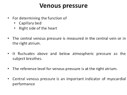 Central Venous Pressure Measurements Central Venous Pressure