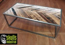 Coffee Table. Welded Steel With Reclaimed Wood In A Diagonal Patterned Top.  Whatu0027s Your Setting? Urban Loft, Rustic Industrial, Modern?