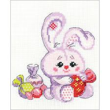 Bunny With A Candy Counted Cross Stitch Kit Riolis