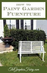 to paint rusty iron garden furniture