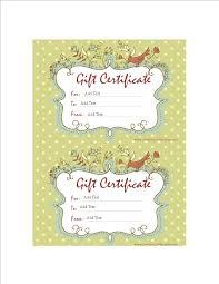 Sample Gift Certificate Templates At Allbusinesstemplates Com