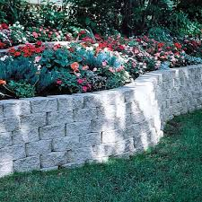 pewter concrete retaining wall block