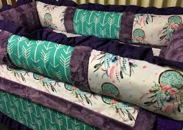 Dream Catcher Crib Bedding Set Dream Catcher and Arrows Baby Girl Crib Bedding featuring Dream 13