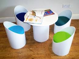 cardboard tube furniture. Eco Seatz Makes Colorful Chairs From Heavy-Duty Recycled Cardboard Tube Furniture