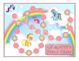 Personalized My Little Pony Chart Potty Training Or Good