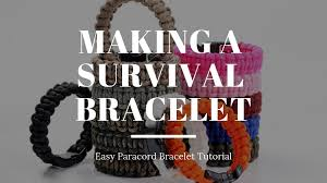 making a survival bracelet that looks cool too