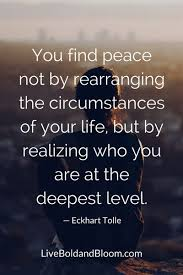 Mesmerising Words Of Wisdom Wisdom Quotes You find peace not by rearranging the circumstances 9