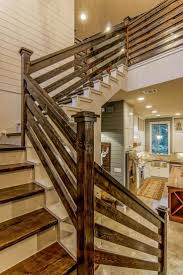 Blue Contemporary Country Farmhouse With Reclaimed Wood. Wood  StairsStaircase WallsStaircase IdeasStair Case Railing ...