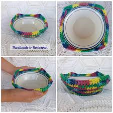 Bowl Cozy Pattern Extraordinary Ravelry Microwave Bowl Cozy Pattern By Handmade Homespun