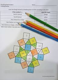 classifying real numbers coloring activity 6 2a 7 2a 8 2a