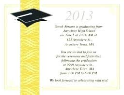 Online Graduation Party Invitations Graduation Party Invitation Templates Free For Word Ceremony And