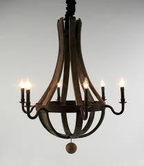 awesome wine barrel chandelier for pink flamingo group design 11