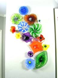 art glass plates hand blown glass plates glass plate wall art decoration blown glass wall art