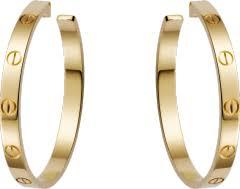 CRB8028200 - <b>Серьги LOVE</b> - Желтое <b>золото</b> - Cartier