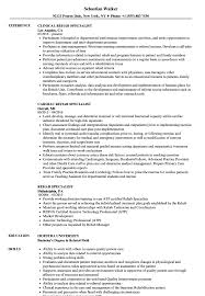 Vocational Rehabilitation Specialist Sample Resume Rehab Specialist Resume Samples Velvet Jobs 18