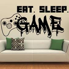 Gamer <b>Wall</b> Decal <b>Eat Sleep Game</b> Controller Video Game <b>Wall</b> ...