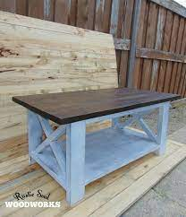 distressed coffee table dark brown and