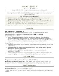 Engineer Resume Engineer Resume Sample Resume For An Entry Level