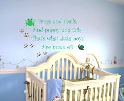 wall decals quotes for nursery baby boy saying quote wall decal frogs and snails nursery vinyl on wall decal quotes for nursery with wall decals quotes for nursery gutesleben