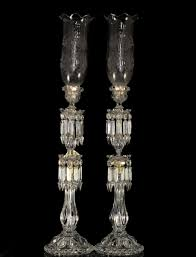 lot 92 antique baccarat crystal candle holders