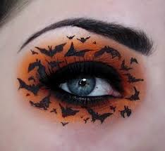 witch bat eye makeup for