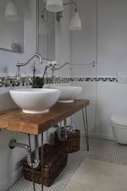 bathroom wood vanity. reclaimed wood vanity with midcentury hairpin legs. bathroom top is sanded perfectly and sealed/stained. we also make these custom sized to n