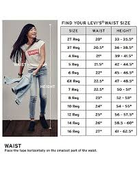 Levi Size 14 Chart 710 Super Skinny Jean Big Girls