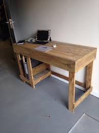 diy wood pallet office computer desk furniture plans pertaining to build a wooden designs 7