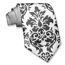 Damask Tie Black White Damask Tie Zazzle Com Black And White Ties