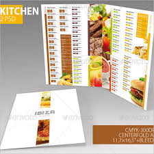 Restaurant Menu Design Templates Restaurant Menu Design Templates Under Fontanacountryinn Com