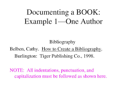 Creating A Bibliography Using Mla Documentation Ppt Download