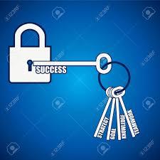 group of keys open a success lock royalty cliparts vectors group of keys open a success lock stock vector 17931339