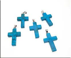 turquoise cross pendants